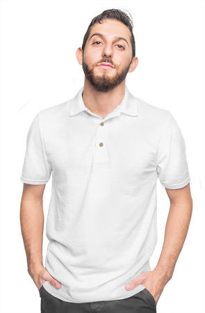 mens collars gildan cotton polo