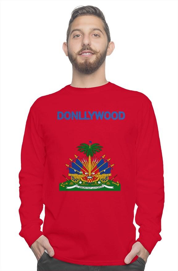 Donllywood Haitian Flag Sweatshirt