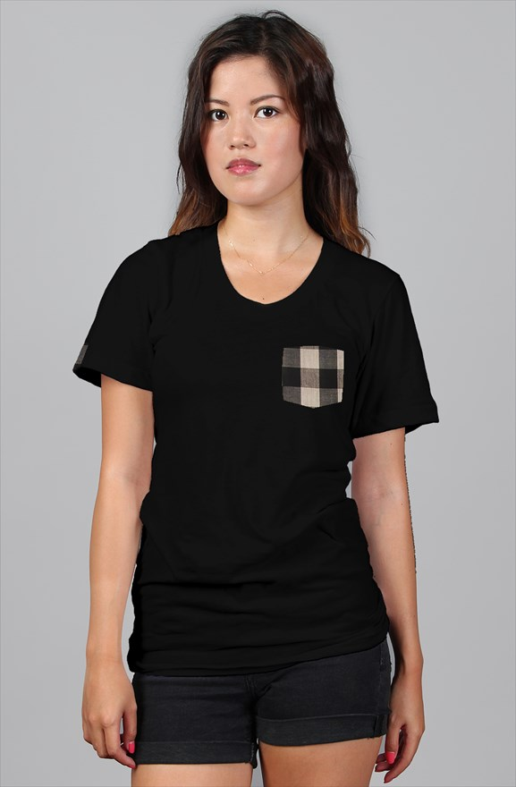 fef32e4530f womens relaxed fit plaid pocket tee. designed with love made with care for  supreme quality and fit. created for the fame inspired. be famous baby girl!