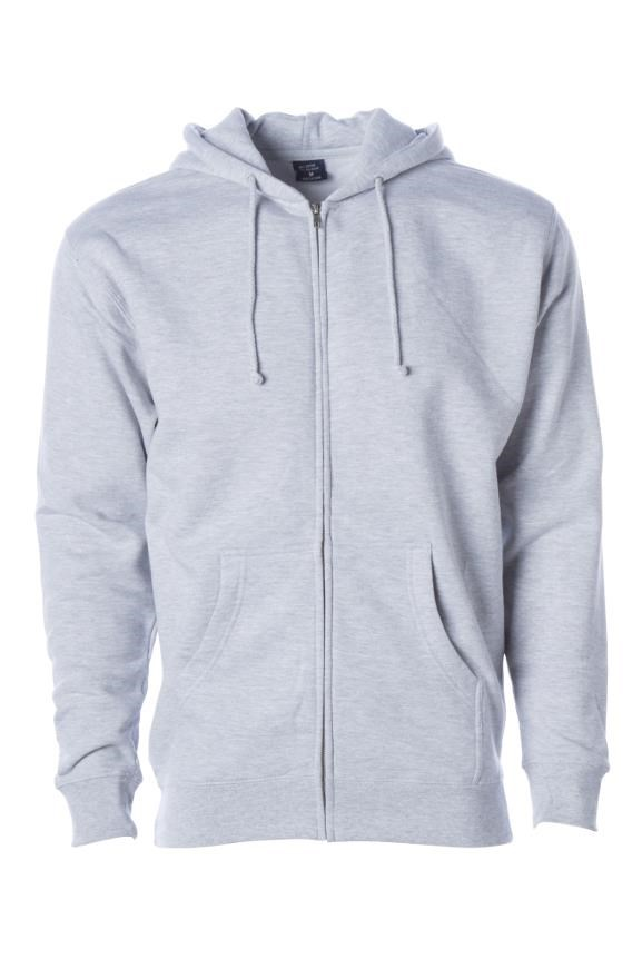 mens hoodies Independent Zip Heavyweight Hoodie