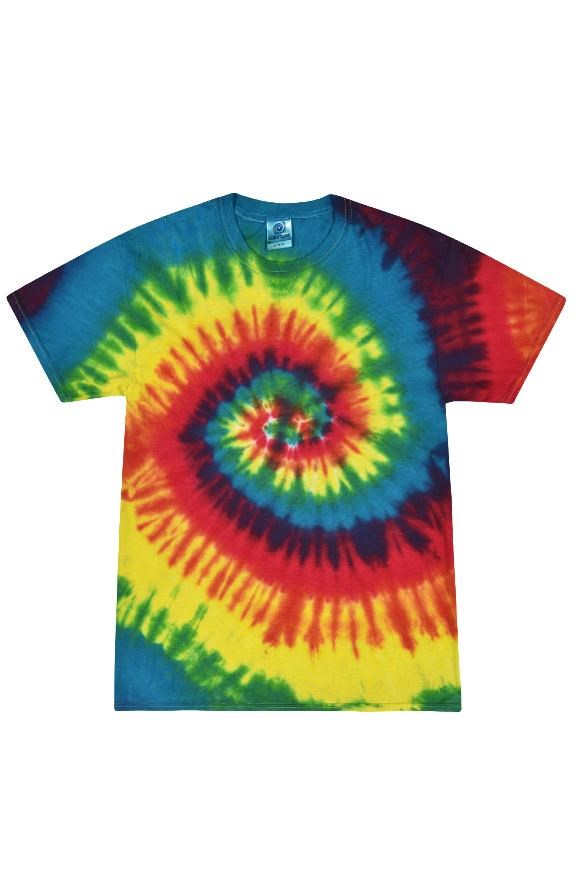 mens tshirts Tie Dye Reactive Rainbow Adult Tee