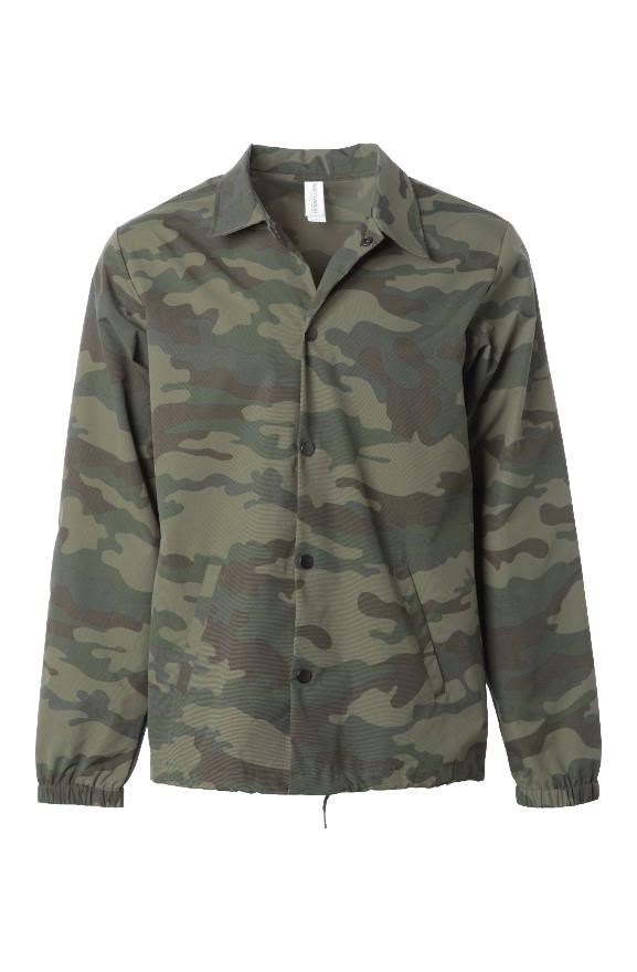 mens jackets Water Resistant Windbreaker Coaches Jacket - Camo