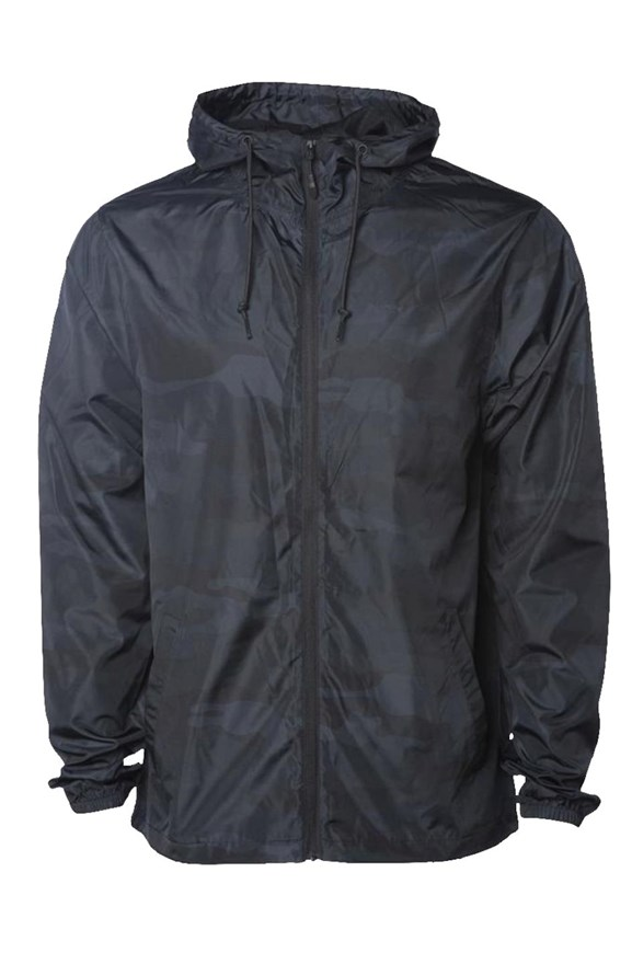 mens jackets Black Camo Water Resistant Windbreaker