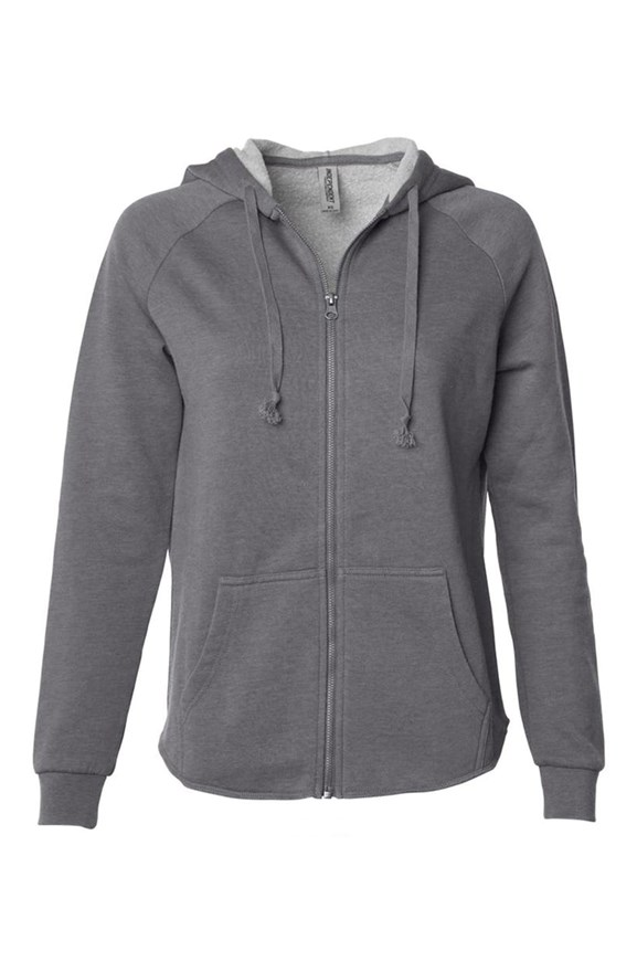 womens hoodies Womens Lightweight Wash Zip Hoodie